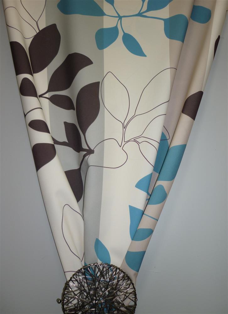 deko stoff gardine vorhang bl tterranken creme t rkis