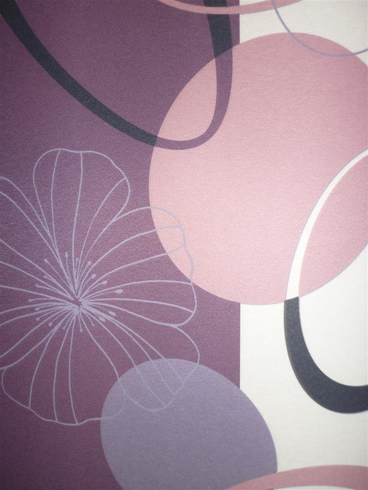 deko stoff gardine vorhang abstr kreise blumen wei lila schwarz blickdicht ebay. Black Bedroom Furniture Sets. Home Design Ideas