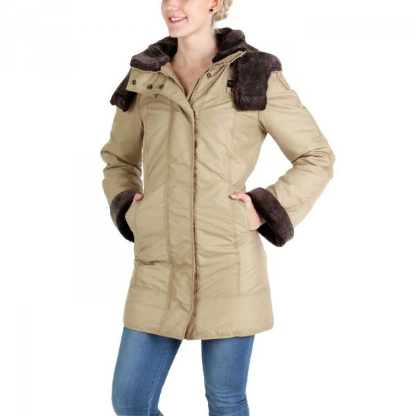 blauer usa damen winter daunen parka mantel jacke sand 332 ebay. Black Bedroom Furniture Sets. Home Design Ideas