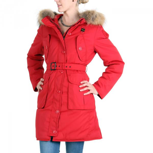 blauer usa damen winter daunen parka mantel jacke red. Black Bedroom Furniture Sets. Home Design Ideas