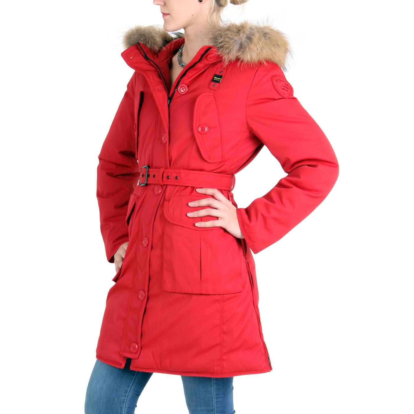 blauer usa damen winter daunen parka mantel jacke red bld0439 ebay. Black Bedroom Furniture Sets. Home Design Ideas
