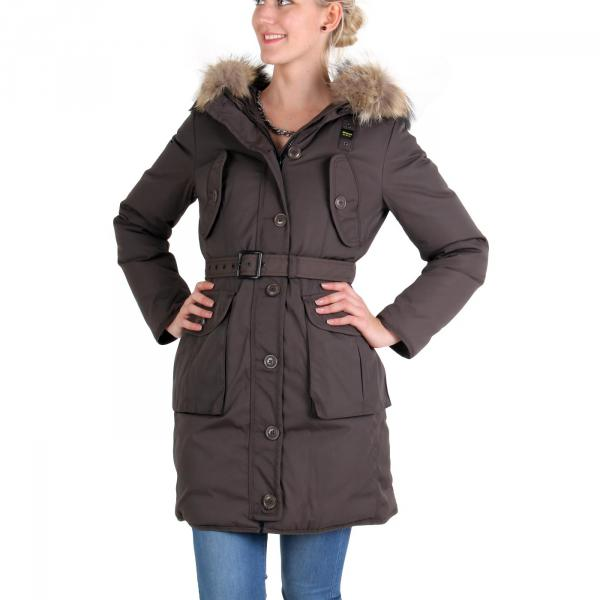 blauer usa damen winter daunen parka mantel jacke brown. Black Bedroom Furniture Sets. Home Design Ideas