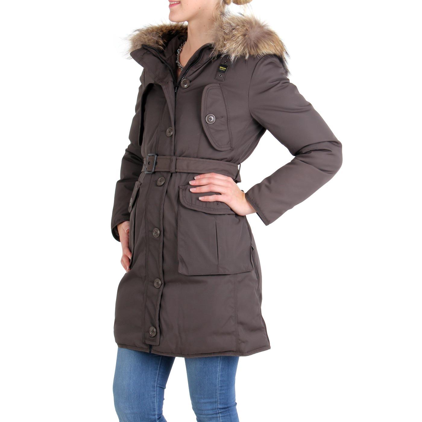 blauer usa damen winter daunen parka mantel jacke brown. Black Bedroom Furniture Sets. Home Design Ideas