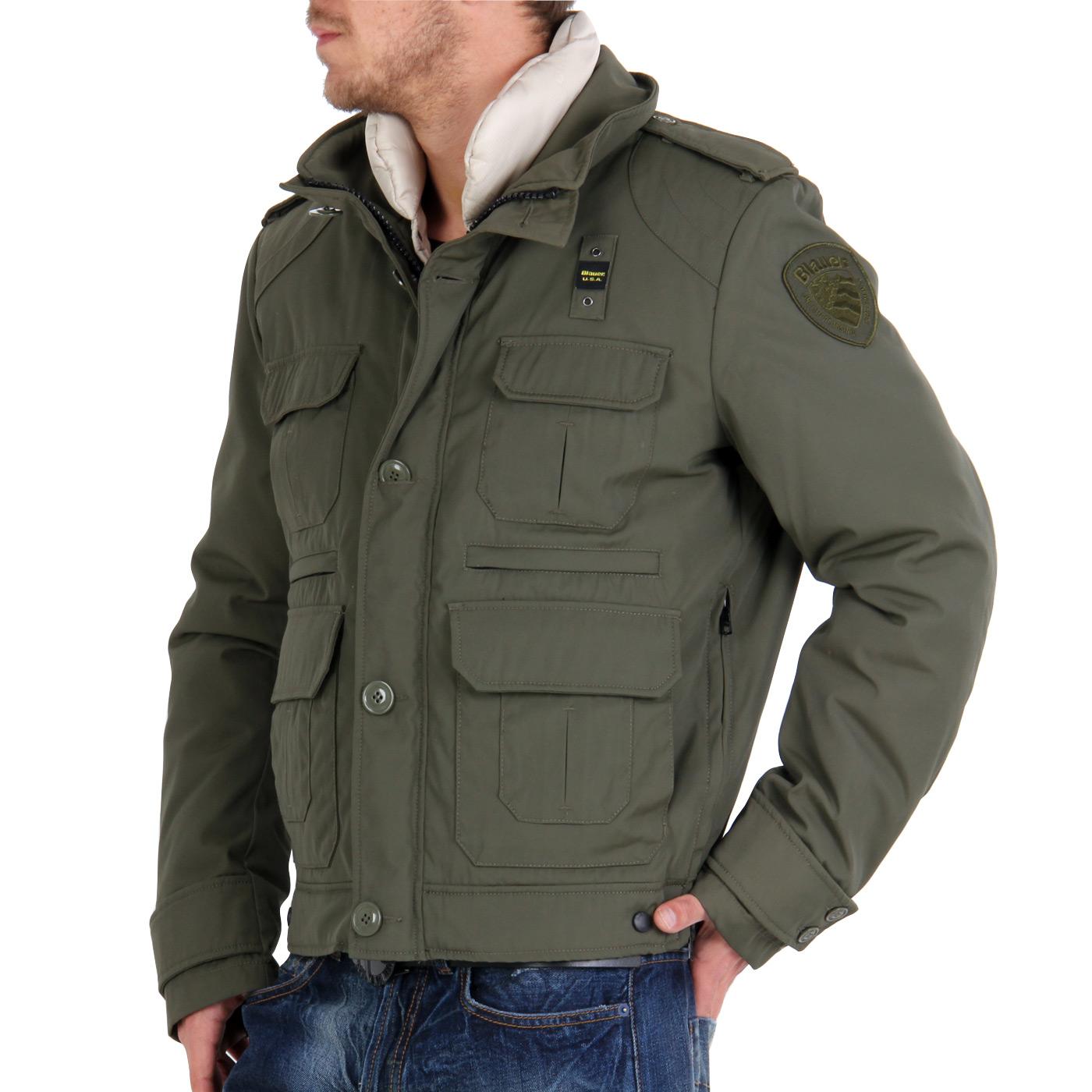 blauer usa herren winter jacke 2 in 1 field jacket green blu0557 ebay. Black Bedroom Furniture Sets. Home Design Ideas