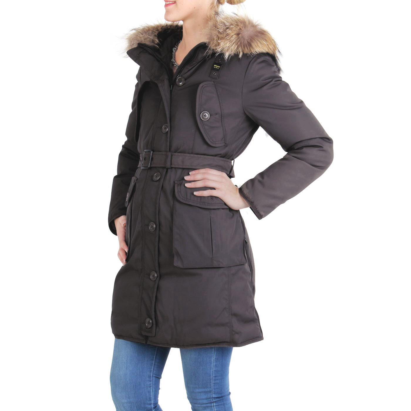 blauer usa damen winter daunen parka mantel jacke black. Black Bedroom Furniture Sets. Home Design Ideas