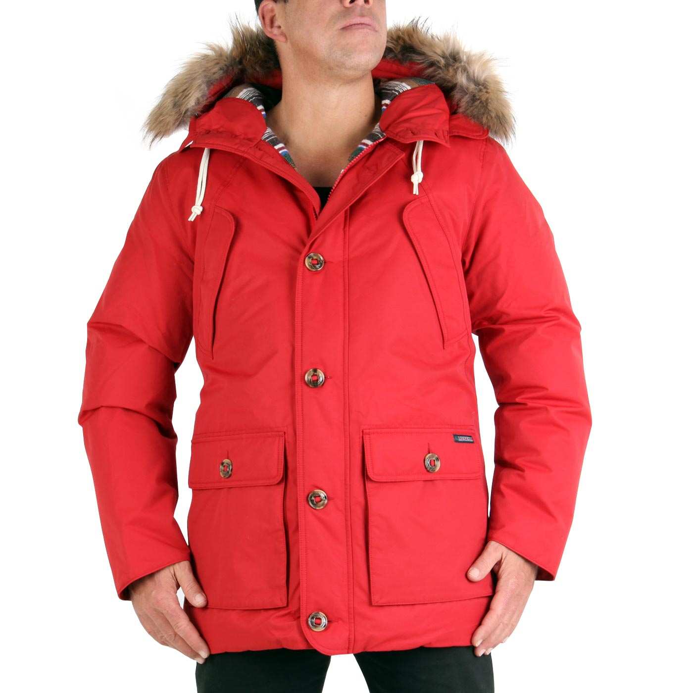 museum herren winter daunen parka mantel jacke new seattle navajo red 19438 ebay. Black Bedroom Furniture Sets. Home Design Ideas
