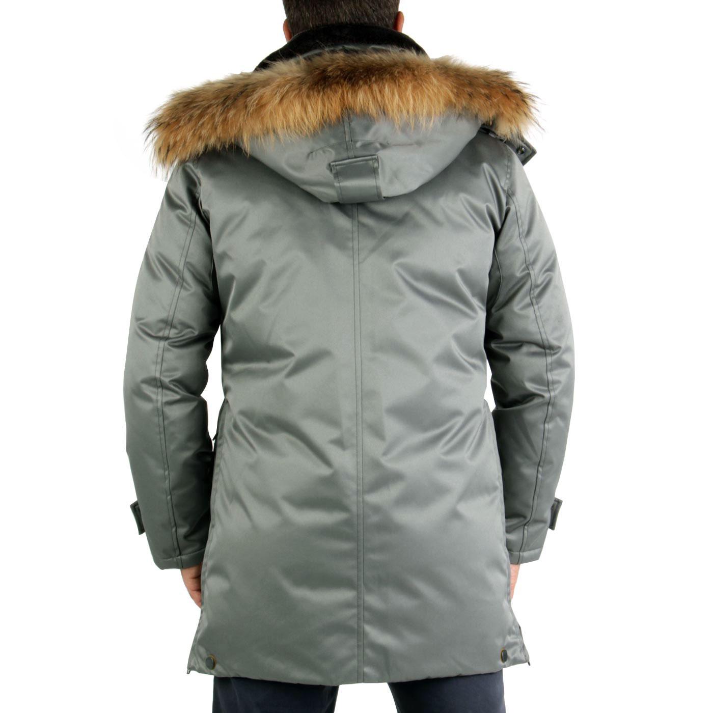 blauer usa herren winter daunen parka mantel jacke grey. Black Bedroom Furniture Sets. Home Design Ideas