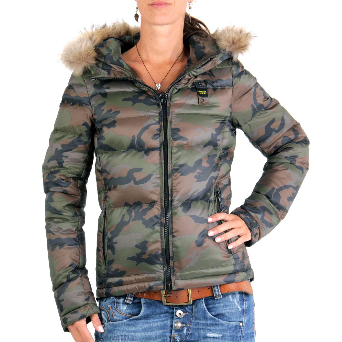 blauer usa damen winter daunenjacke army camouflage 0675. Black Bedroom Furniture Sets. Home Design Ideas
