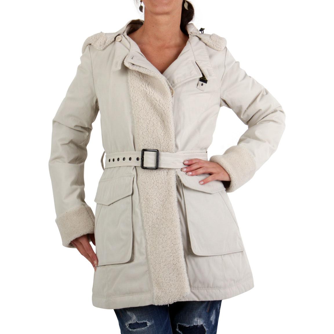 blauer usa damen winter daunen parka mantel jacke beige bld0300 gr e s ebay. Black Bedroom Furniture Sets. Home Design Ideas