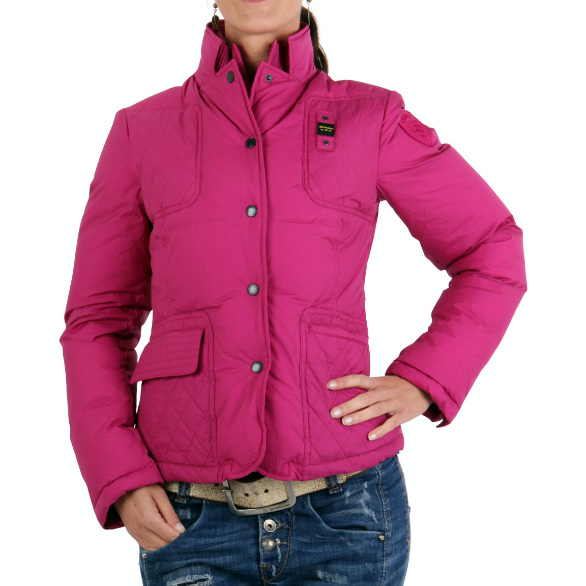 blauer usa damen winter daunen jacke pink bld0345 ebay. Black Bedroom Furniture Sets. Home Design Ideas