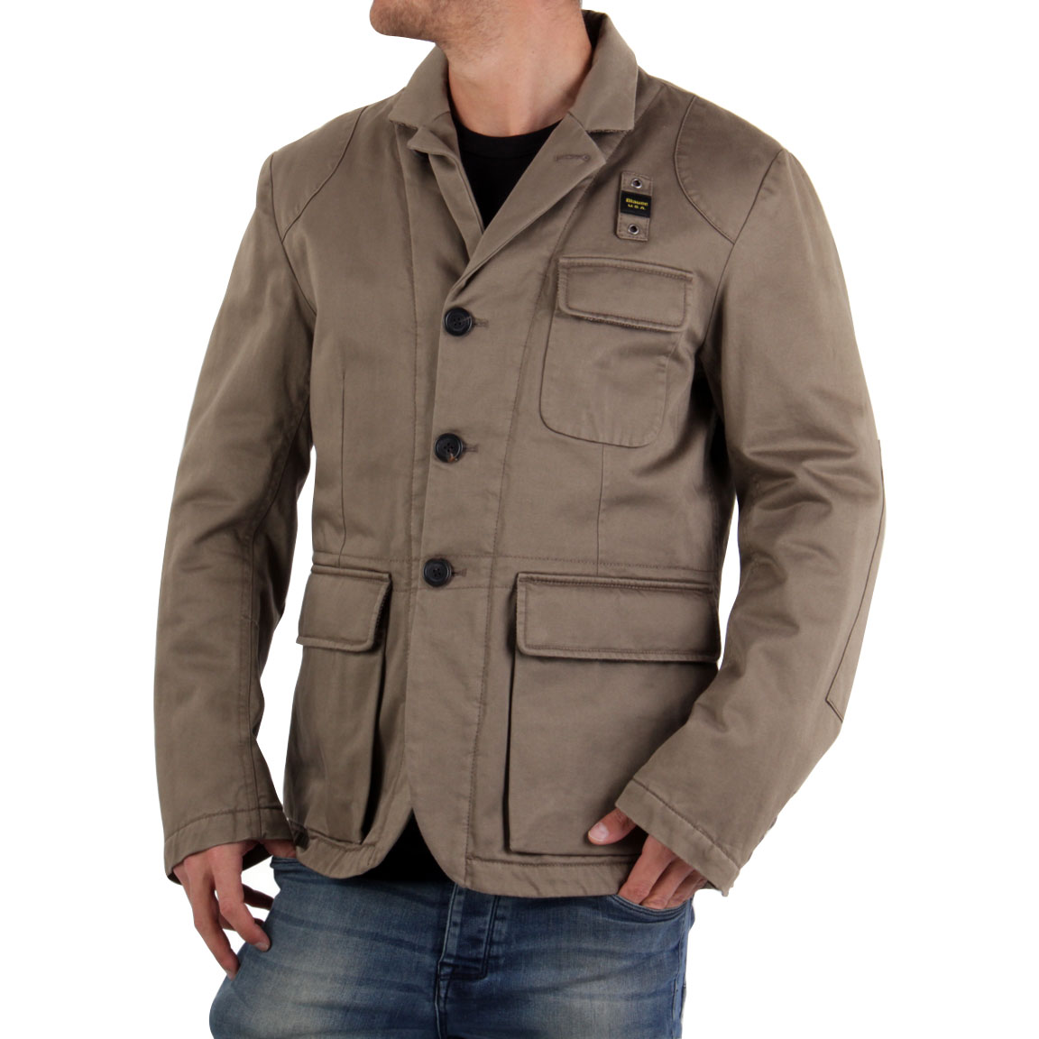 blauer usa men winter jacket dark beige blu0461 size l ebay. Black Bedroom Furniture Sets. Home Design Ideas