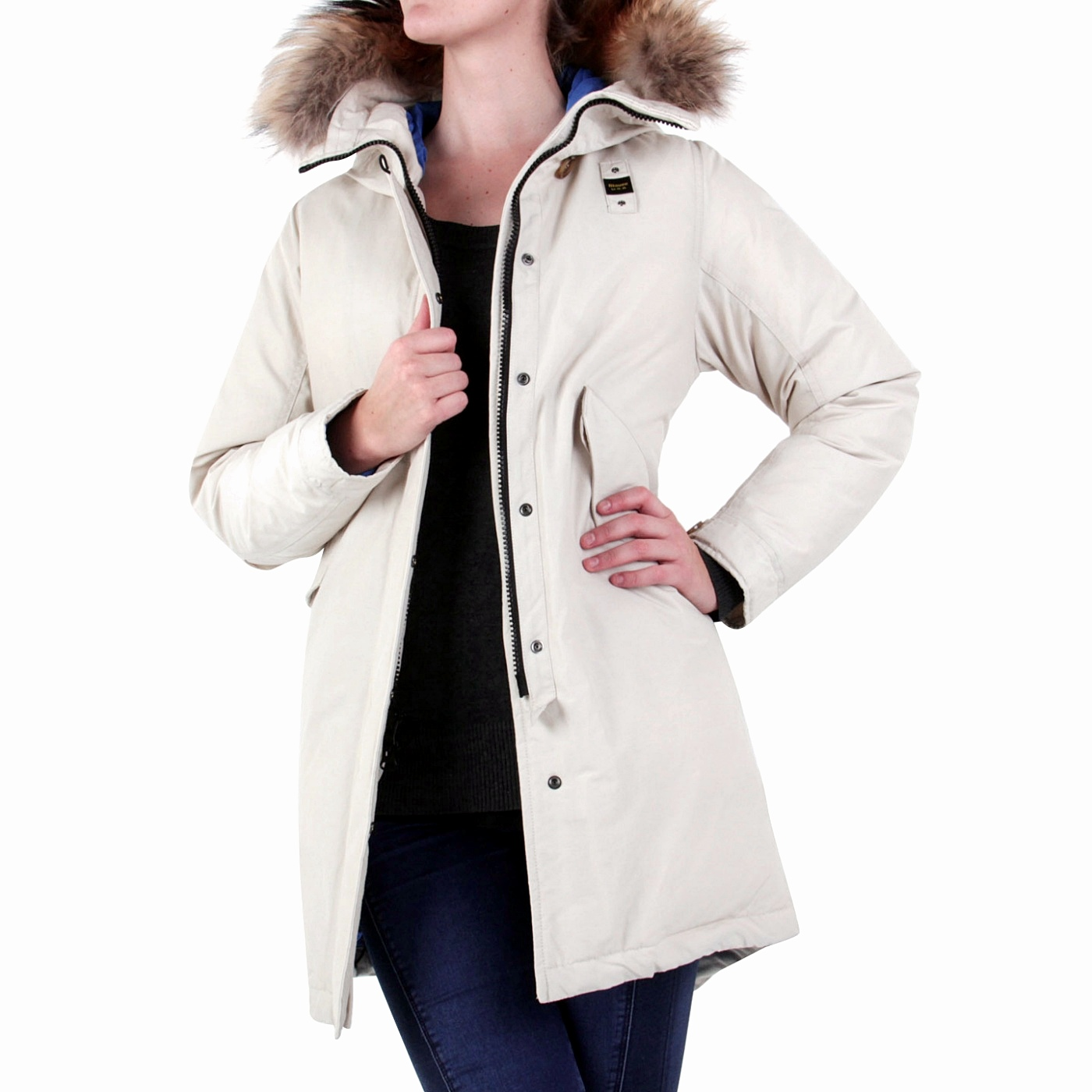 blauer usa damen winter daunen parka mantel jacke limited beige bld03045 ebay. Black Bedroom Furniture Sets. Home Design Ideas