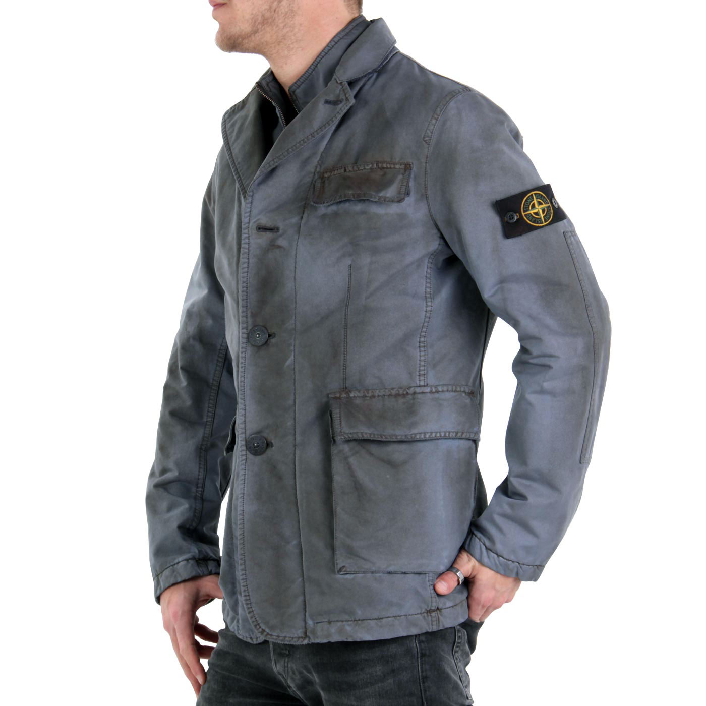stone island herren winter jacke vintage grey a0550 2. Black Bedroom Furniture Sets. Home Design Ideas