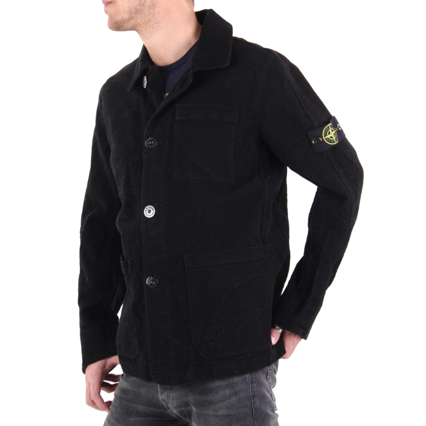 stone island herren field jacke black 5515a0332 gr e l ebay. Black Bedroom Furniture Sets. Home Design Ideas
