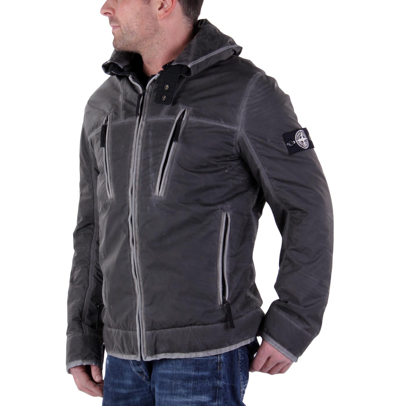 stone island herren winter jacke ice liquid reflective. Black Bedroom Furniture Sets. Home Design Ideas