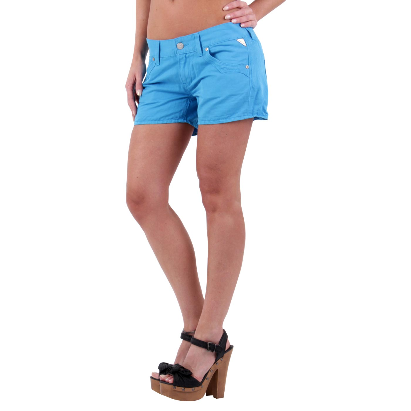 replay damen sommer leinen shorts kurze hose blue wv632 balingen. Black Bedroom Furniture Sets. Home Design Ideas