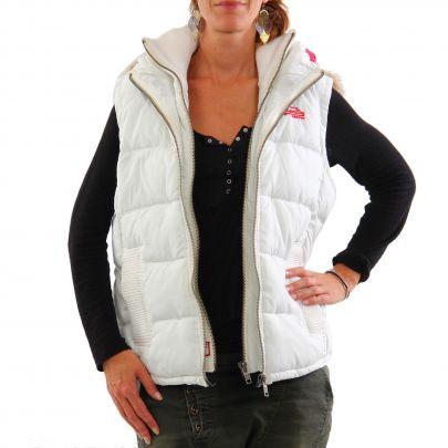 superdry damen winter weste hooded fur kalk white 2 wahl. Black Bedroom Furniture Sets. Home Design Ideas