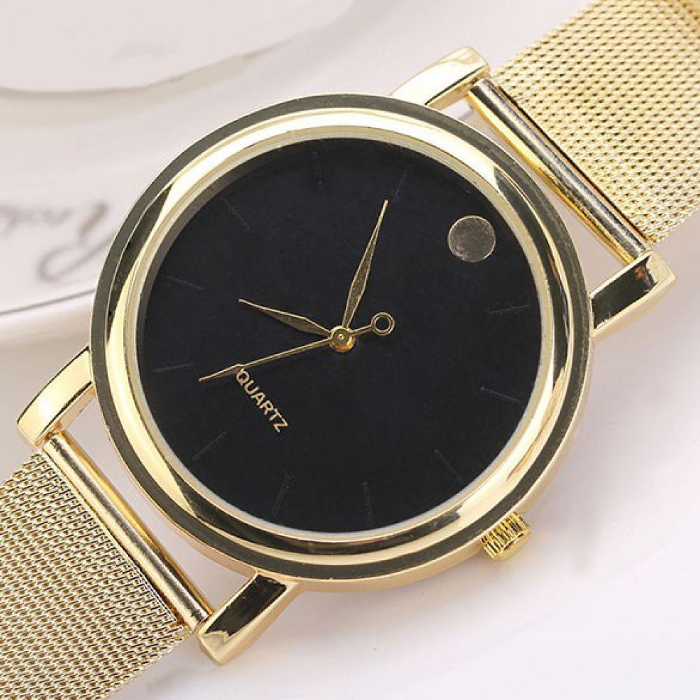 damenuhr gold uhr armbanduhr damen bicolor edelstahl. Black Bedroom Furniture Sets. Home Design Ideas