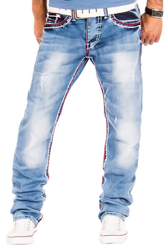 amica herren jeans clubwear vintage hose dicke naht rot. Black Bedroom Furniture Sets. Home Design Ideas