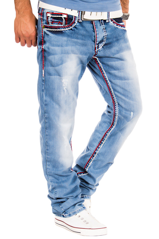 Jeans hosen herren mit dicker naht