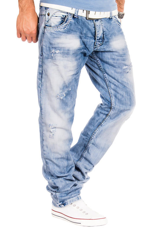 amica herren jeans clubwear vintage hose cargo style denim washed blau hellblau ebay. Black Bedroom Furniture Sets. Home Design Ideas