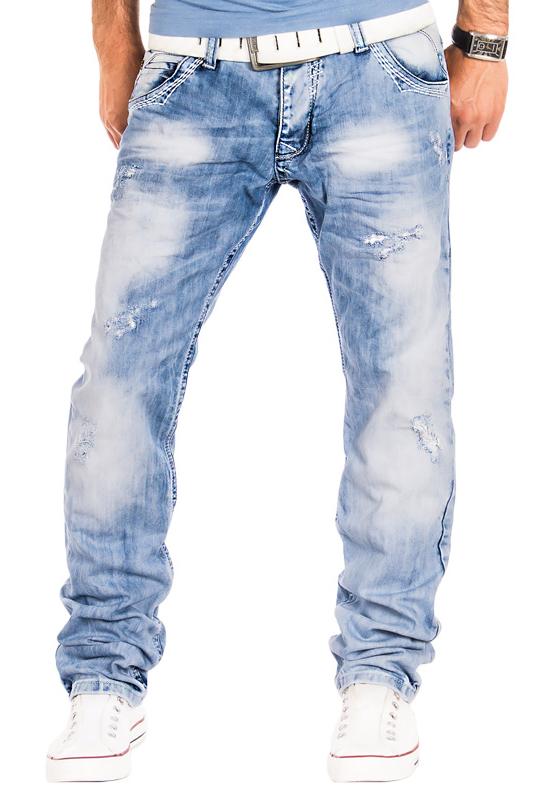 amica herren jeans verwaschen designer clubwear cargo denim style hose hellblau ebay. Black Bedroom Furniture Sets. Home Design Ideas