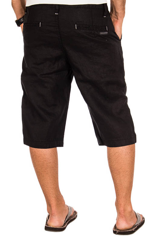 cipo baxx leinenhose herren bermuda short capri kurz hose w29 w38. Black Bedroom Furniture Sets. Home Design Ideas