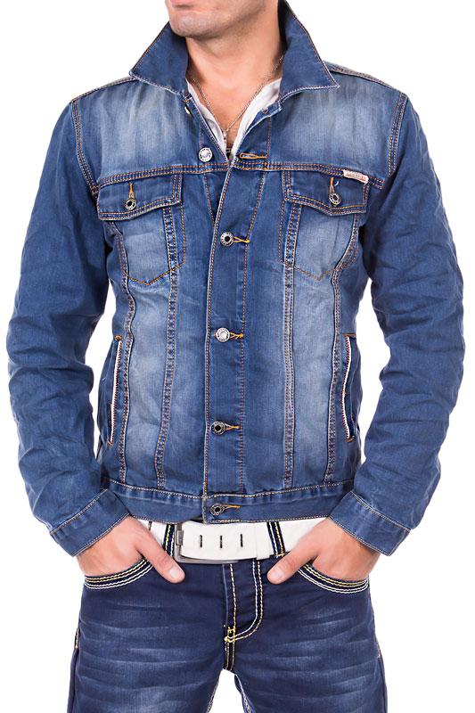 jeansnet herren jeansjacke vintage jacke verwaschen used look cargo jeans blau ebay. Black Bedroom Furniture Sets. Home Design Ideas