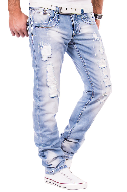 jeansnet herren jeans zerrissen verwaschen clubwear hose cargo style look blau ebay. Black Bedroom Furniture Sets. Home Design Ideas