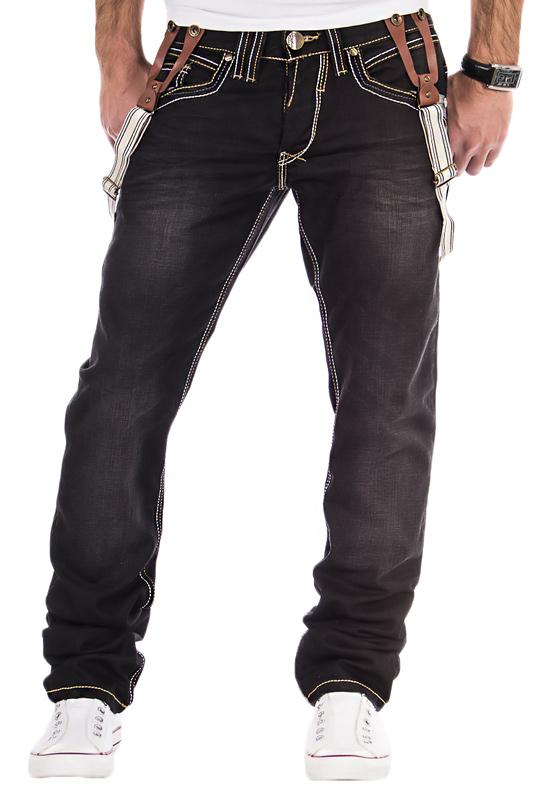 amica herren jeans chino hose latzhose hosentr ger clubwear verwaschen schwarz. Black Bedroom Furniture Sets. Home Design Ideas