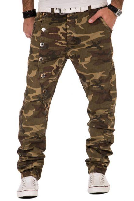 cipo baxx herren chino jeans hose camouflage loose slim. Black Bedroom Furniture Sets. Home Design Ideas