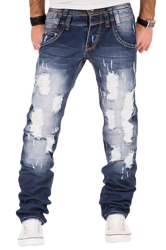 justing herren jeans hose verwaschen clubwear destroyed. Black Bedroom Furniture Sets. Home Design Ideas
