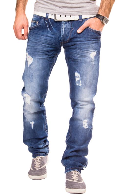 rerock by headline designer jeans herren hose destroyed. Black Bedroom Furniture Sets. Home Design Ideas