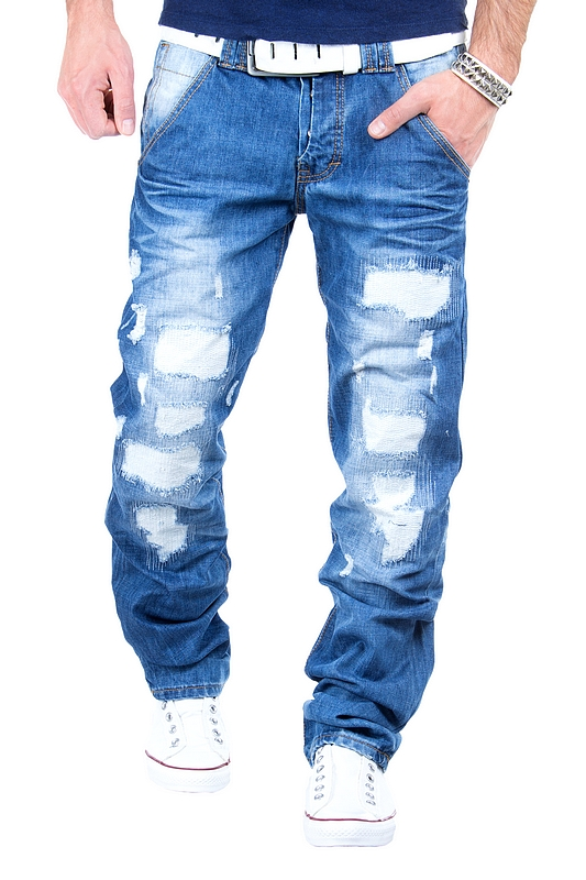 jeansnet herren jeans destroyed look clubwear vintage hose. Black Bedroom Furniture Sets. Home Design Ideas