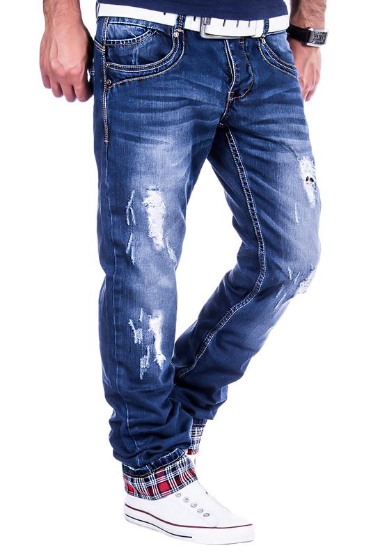 jeansnet herren jeans chino kariert cargo style destroyed. Black Bedroom Furniture Sets. Home Design Ideas