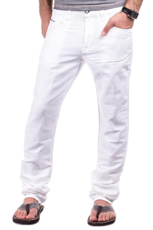 cipo baxx herren leinenhose leinen sommer stoffhose chino jeans wei beige ebay. Black Bedroom Furniture Sets. Home Design Ideas