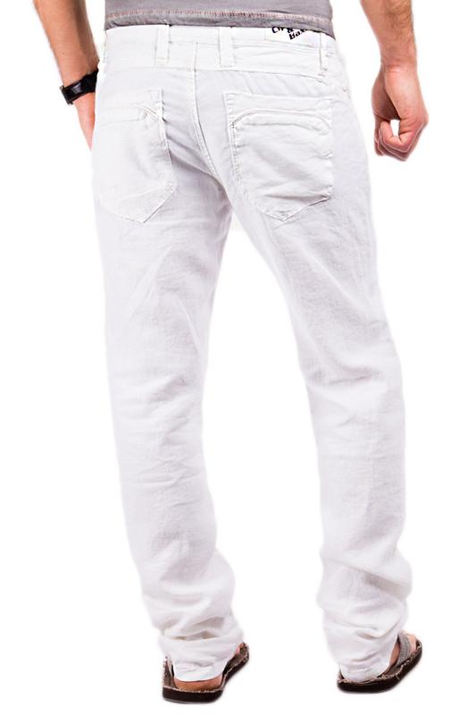 cipo baxx leinenhose herren jeans stoffhose cargo wei. Black Bedroom Furniture Sets. Home Design Ideas