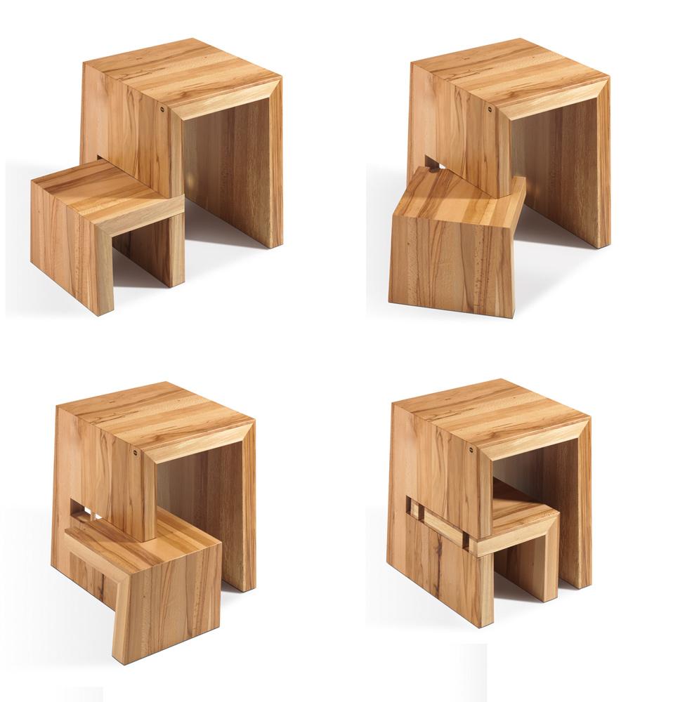 Trittleiter Holz trittleiter holz borgese klappbarer trittleiter aus holz mit