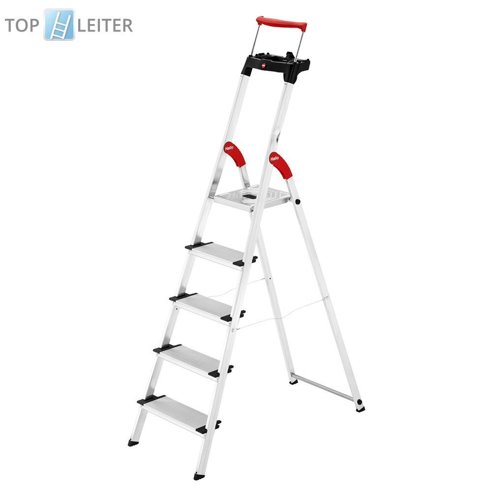 hailo comfortline xxr stehleiter 5 stufen stehleiter leiter haushaltsleiter ebay. Black Bedroom Furniture Sets. Home Design Ideas