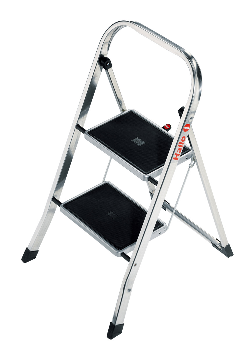 hailo k30 klapptritt 2 stufen trittleiter tritt neu leiter aluleiter ebay. Black Bedroom Furniture Sets. Home Design Ideas