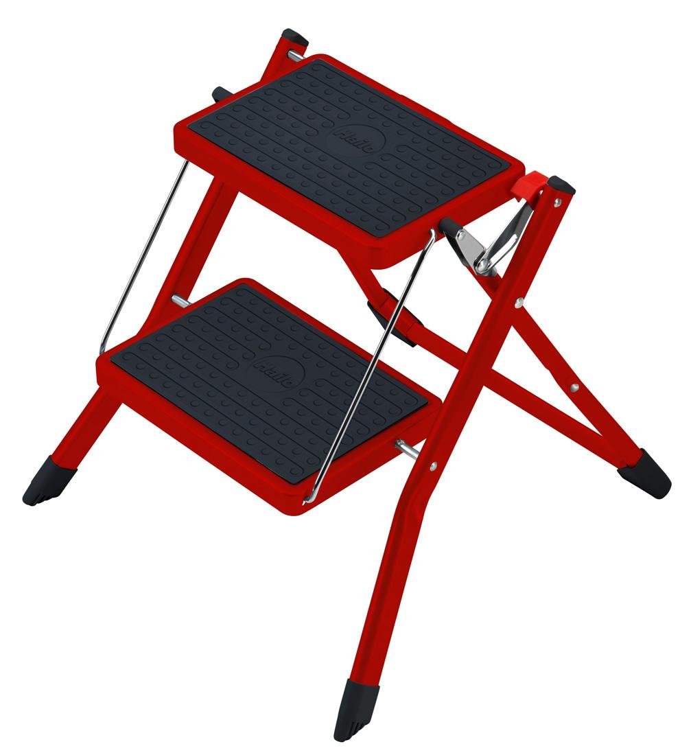 hailo mini klapptritt rot 2 stufen trittleiter tritt neu leiter ebay. Black Bedroom Furniture Sets. Home Design Ideas