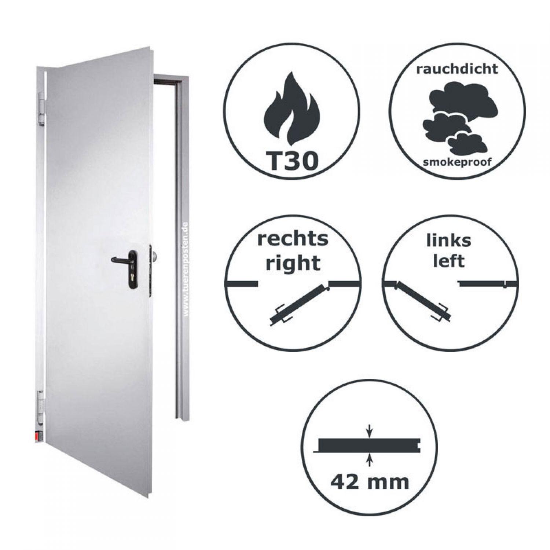 teckentrup brandschutzt r t30 ht8 d mit rauchschutz neues modell ebay. Black Bedroom Furniture Sets. Home Design Ideas