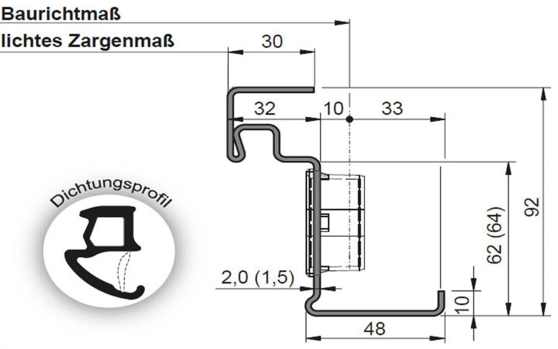nebeneingangst r w rmeged mmt massive stahlt r 62 mm garagent r eingangst r ebay. Black Bedroom Furniture Sets. Home Design Ideas