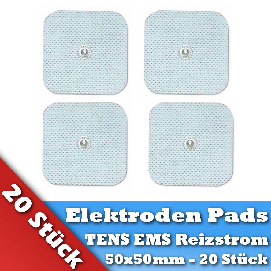 20 Tens Elektroden Pads für Omron Hydas Prorelax Axion EMS