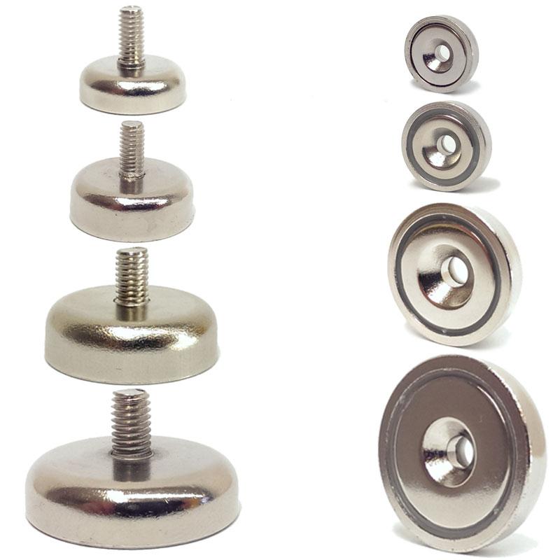 neodym magnete mit senkung gewinde n35 scheiben bohrung werkstatt flachgreifer ebay. Black Bedroom Furniture Sets. Home Design Ideas