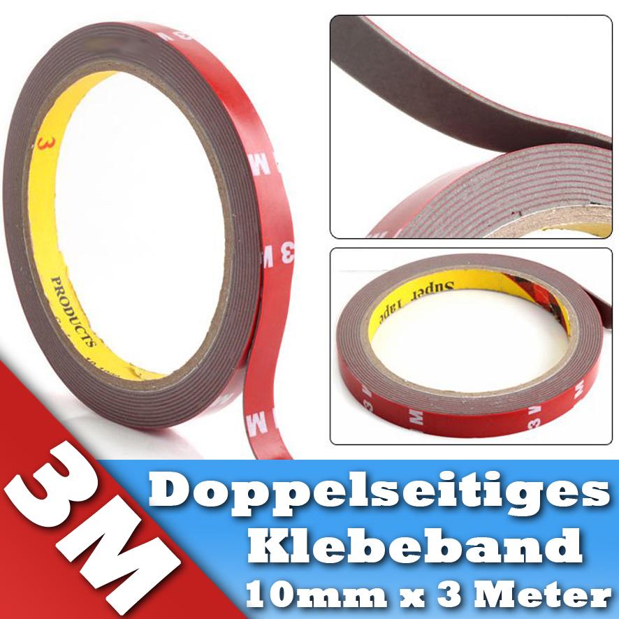 doppelseitiges klebeband 3m montageklebeband hochleistungsklebeband tape 10mm ebay. Black Bedroom Furniture Sets. Home Design Ideas