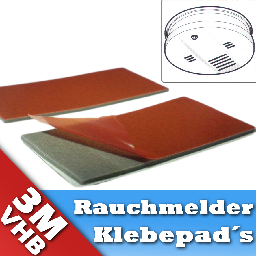 3m gt7116 rauchmelder klebepads doppelseitiges klebeband montage 5 st ck ebay. Black Bedroom Furniture Sets. Home Design Ideas