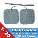 Selbstklebende TENS Elektroden Pads für EMS Reizstrom Gerät mit Stecker 50x50mm