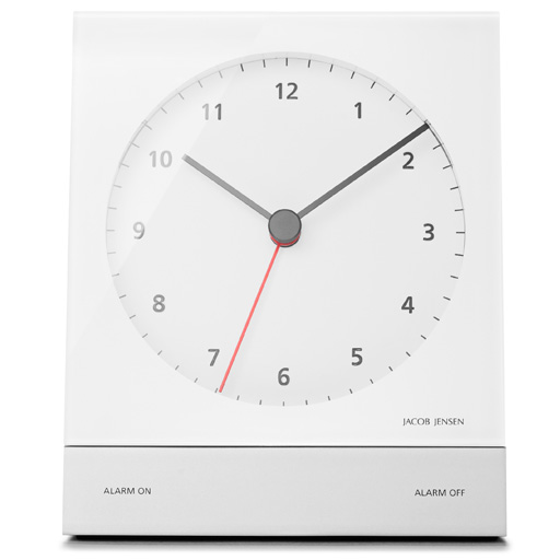 jacob jensen wecker design quarzwecker alarm clock snooze. Black Bedroom Furniture Sets. Home Design Ideas