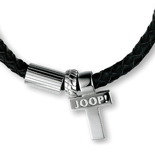 joop halskette rebel mit schwarzem lederband ebay. Black Bedroom Furniture Sets. Home Design Ideas
